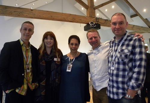 Dan Smith, blogger Kate, Sam Hepburn, Tony Higginson and Fletcher Moss