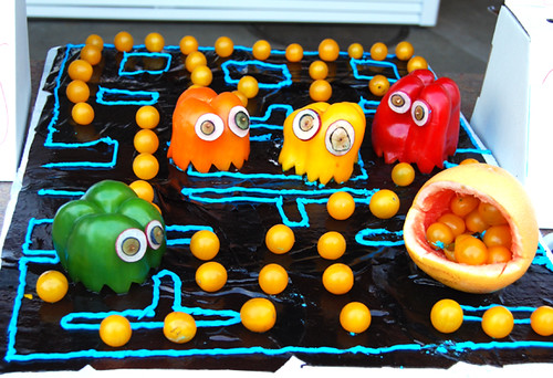 Pac Man veggie platter