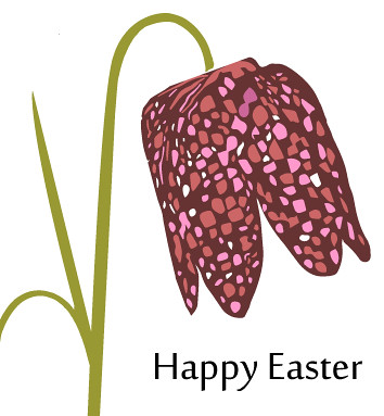 Home-made Fritillaria Easter Card