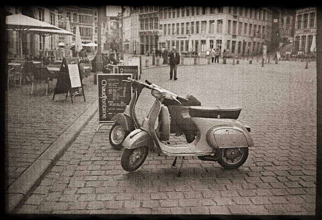 Vespas - Super-XX Nitrate film in Caffenol