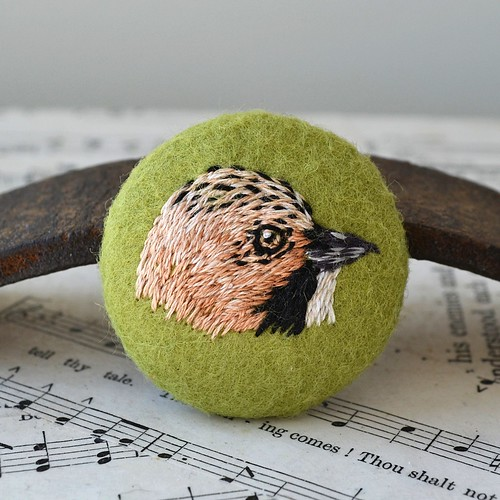 Jay Bird Brooch