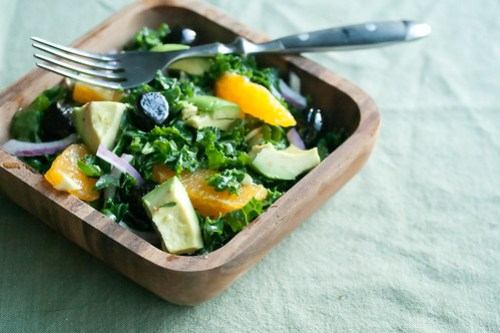 Shredded Kale and Orange Salad
