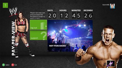 WWE App on Xbox
