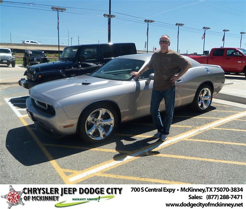 Dodge City of McKinney would like to say Congratulations to DKR Wholesale on the 2013 Dodge Challenger by Dodge City McKinney Texas