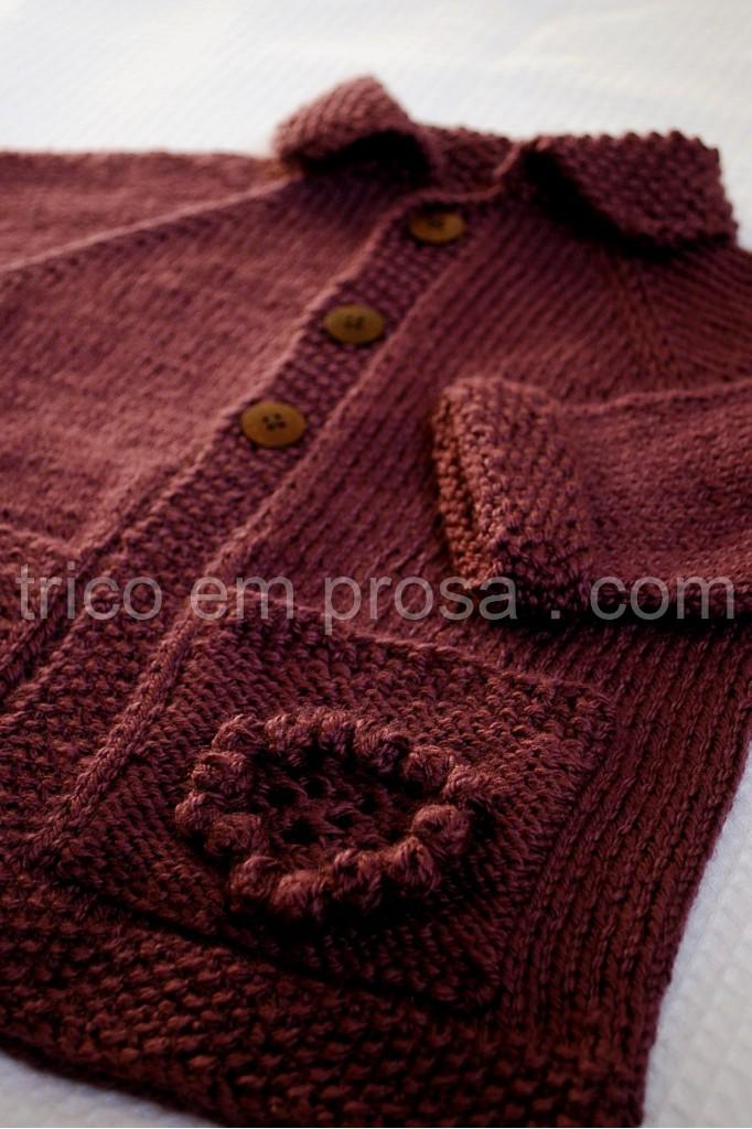 tricô em prosa - Casaco Flora
