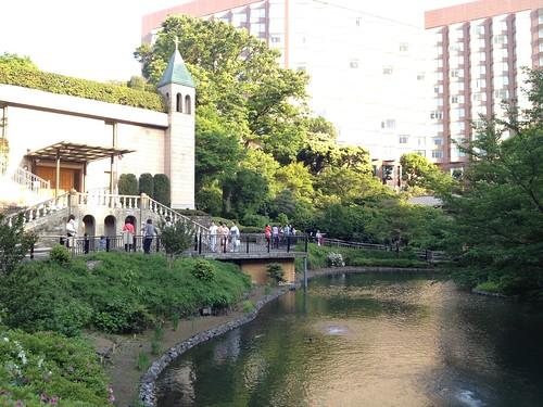 椿山荘のお庭@スイーツマリアージュ