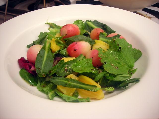 Baby beet and radish salad