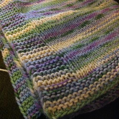 Done!  Blanket at least. #knit #blanket