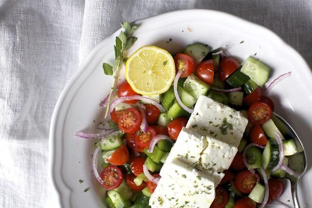 simplest greek salad