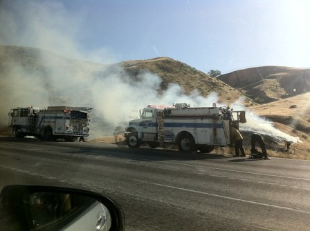 Fire near the Grapevine