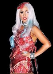 Lady Gaga Meat Dress Transparent By Sean Trank