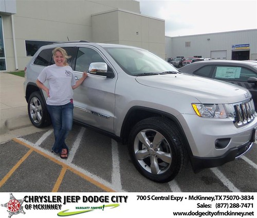 Dodge City of McKinney would like to say Congratulations to Jolie Williams on the 2013 Jeep Grand Cherokee by Dodge City McKinney Texas