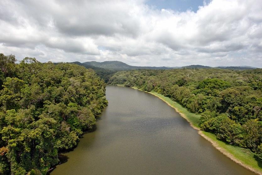 Gliding over the Barron River to Kuranda.