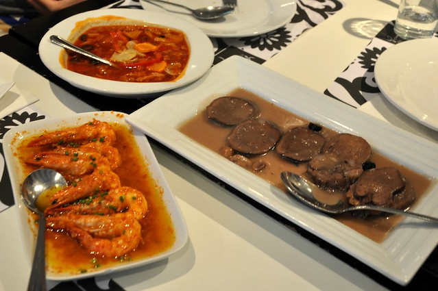 Callos, Prawns in Aligue Sauce and Lengua