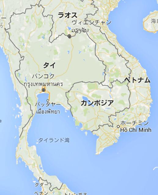 160526 タイの地図