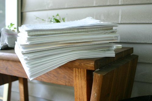 Many notes on numerous drafts of my novel