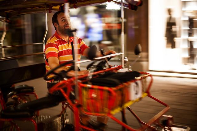 Pedicab in Strøget
