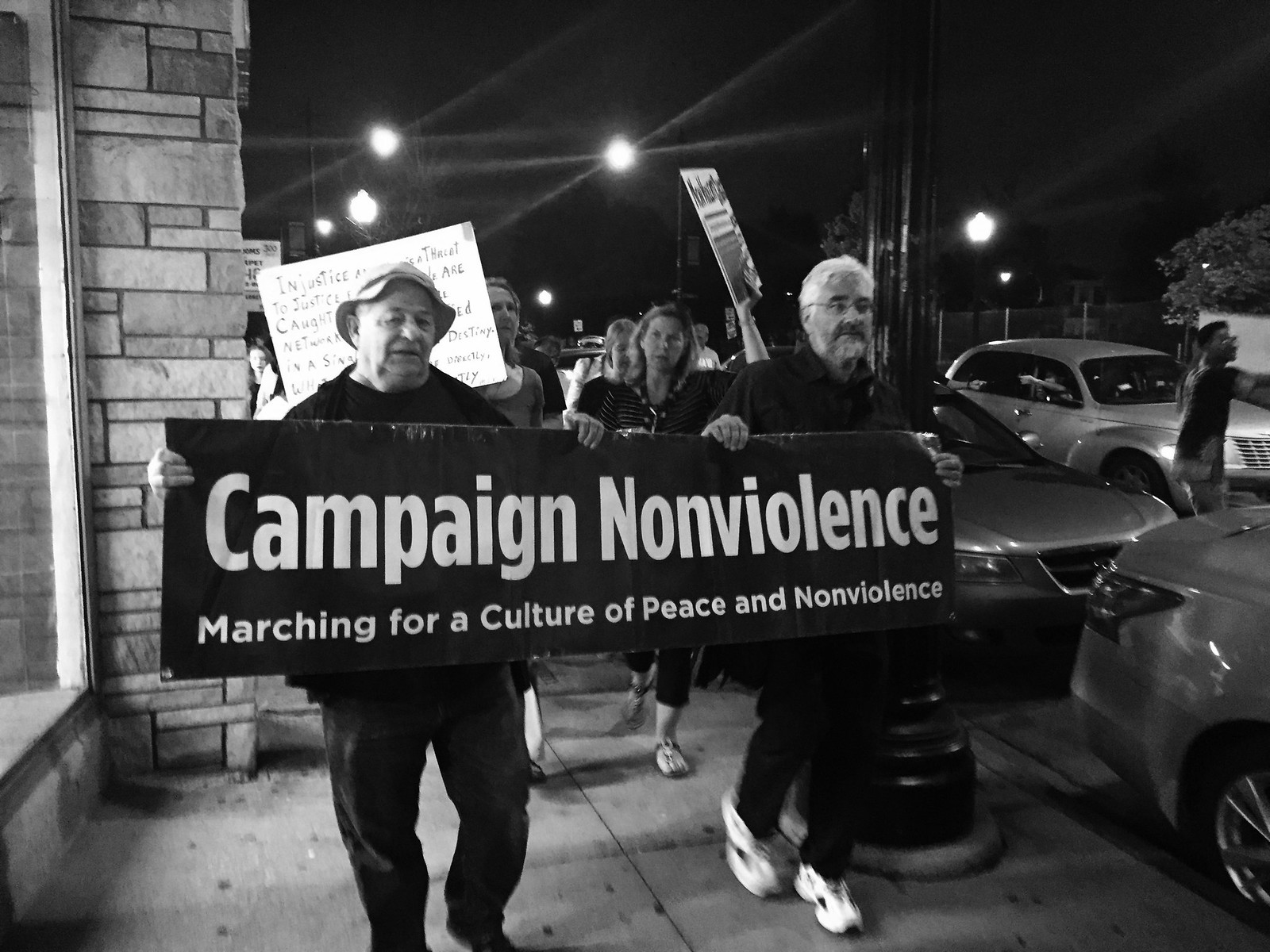 Chicago,IL Peace March with Fr. Pflager