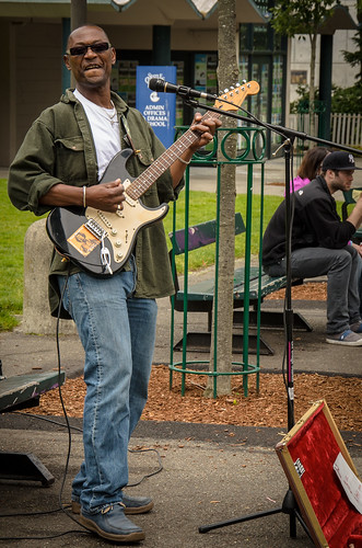 Busker in Seattle Center