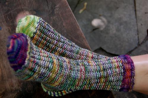 Scrap socks, finally complete