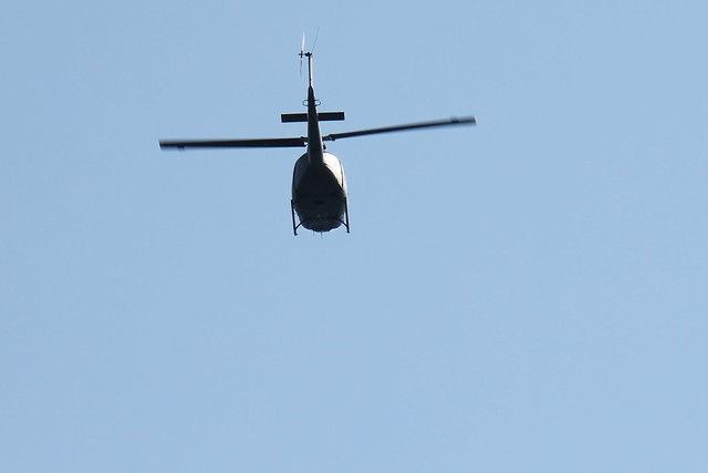Copter flying over the Eraclea Mare beach