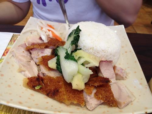 Roast pork rice in Chinatown