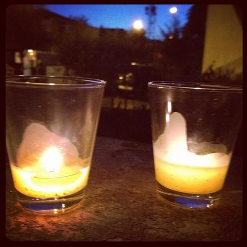 Luci nella notte - bicchierini di Madrid