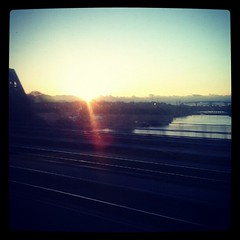 Sunrise over the Calumet River