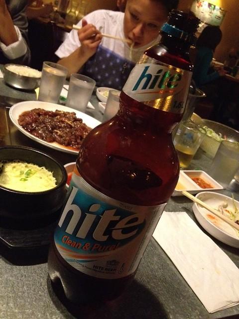 Hite Korean beer - YakiniQ BBQ