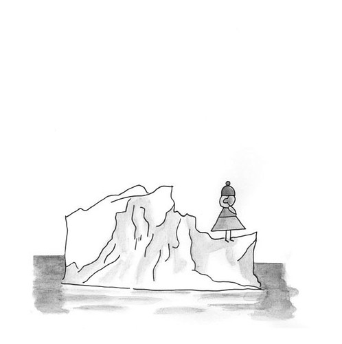 Girl on an iceberg