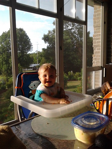 eating on the porch