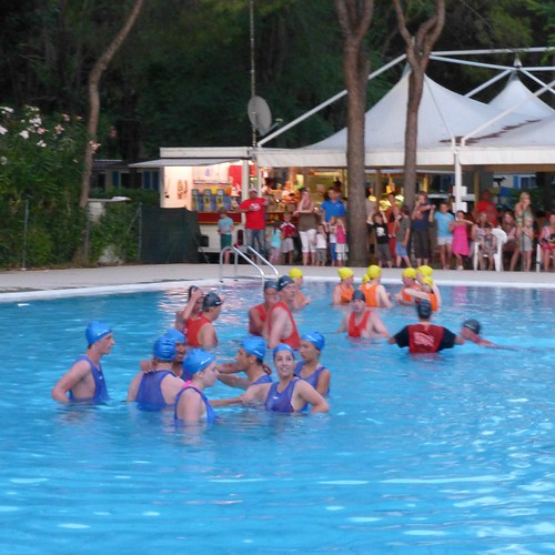 watergames at campsite, italy