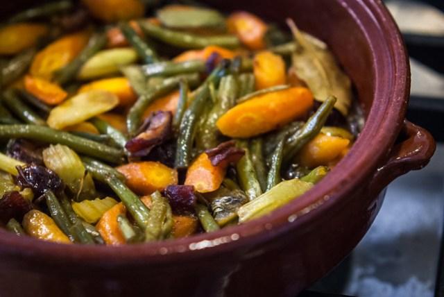 Couscous met kruidige groenten en merguez