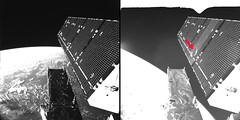 Sentinel-1A fragment impact in space