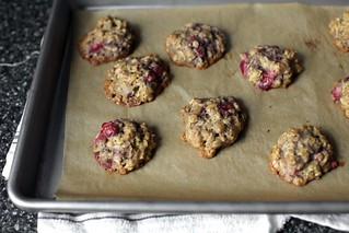 燕麦草莓饼干