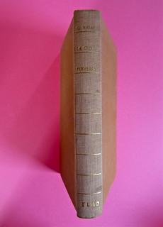 Gore Vidal, La città perversa, Elmo editore 1949. Dorso (part.), 1