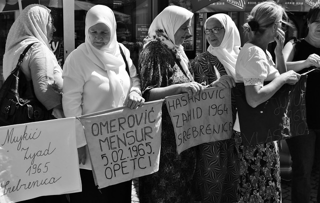 Women Of Srebrenica Protest