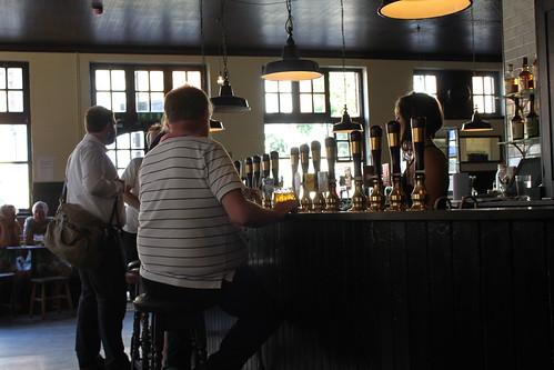 At the bar - Cock Tavern