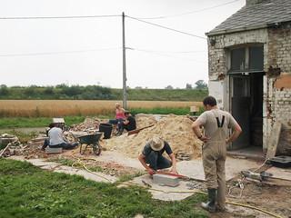 L'atelier des tailleurs de pierre (euh... briques et parpaings)
