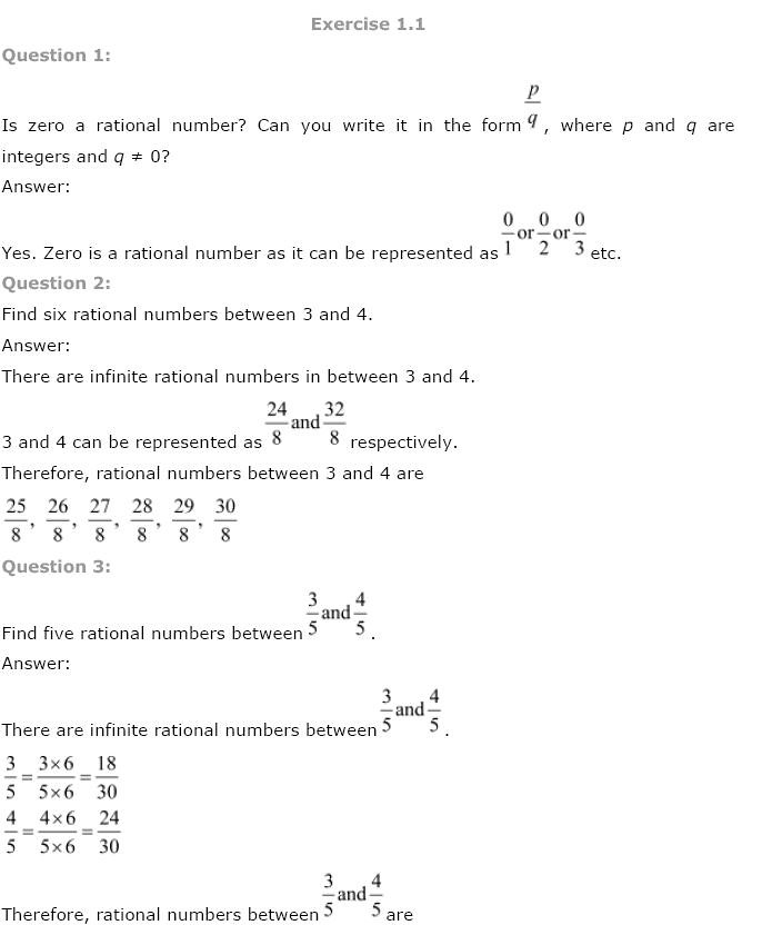 NCERT Solutions For Class 9th Maths Solutions Chapter 1 Number Systems PDF Download 2018-19