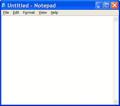 Notepad Screen Shot
