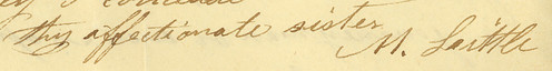 Mary (Howard) Little's signature, 1831