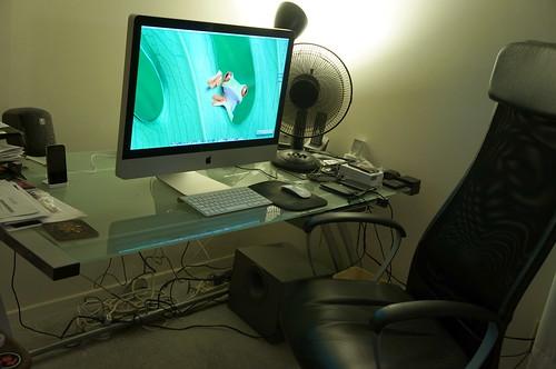 27-inch iMac setup, August 5 2012