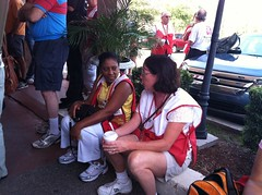 Isaac: Volunteers Behula Guydon and Laura Smelski Share Their Red Cross Experiences While Waiting For Orientation To Begin