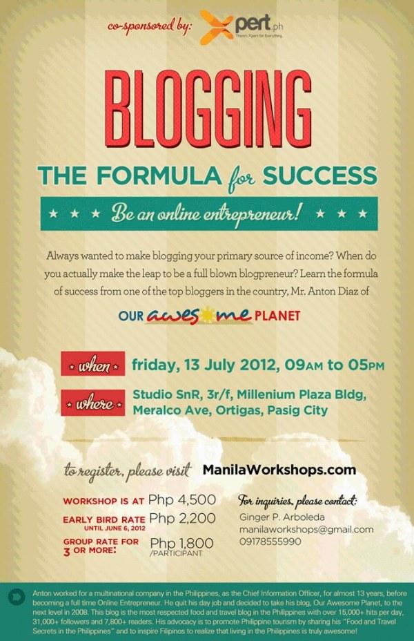 BLOGGING: The Formula for Success (Be an Online Entrepreneur!)