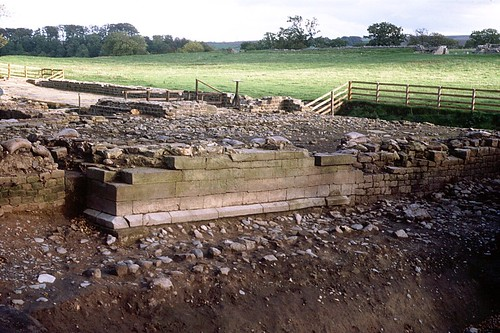 The ashlar walling after excavation