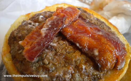 Burger King BK Bacon Burger Bacon Closeup