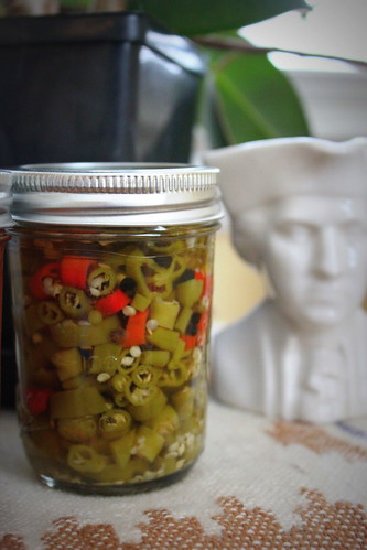 20120812. Honeyed hot peppers and Thomas Jefferson.