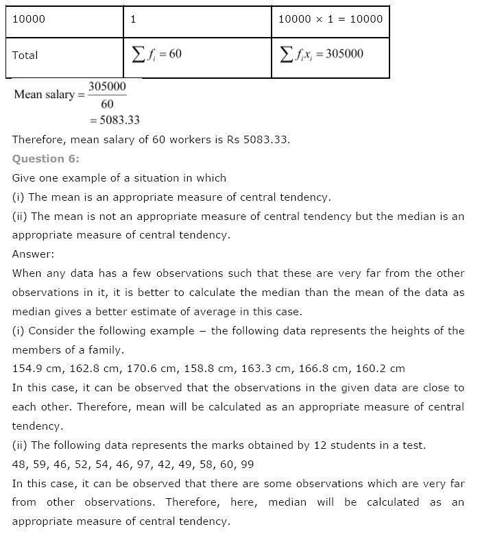 NCERT Solutions For Class 9th Maths Solutions Chapter 14 Statistics PDF Download 2018-19