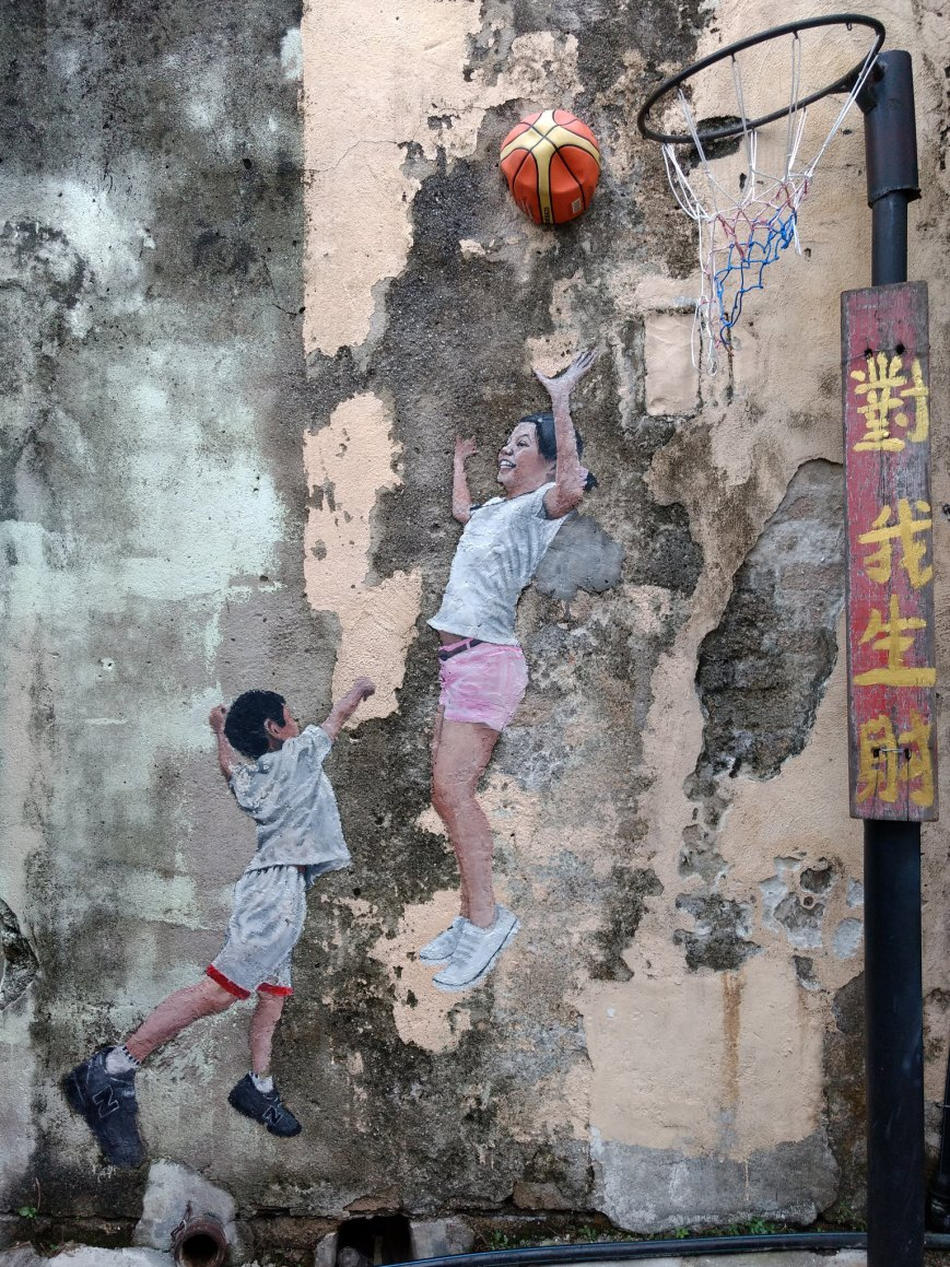 The Basketball kids, George Town, Penang